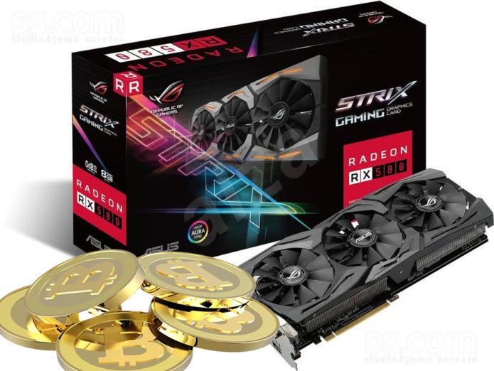 Видеокарта ASUS RX470 GPU - неплохой инструмент для майнинга криптовалют