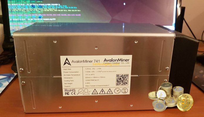 Canaan Avalonminer 741 - недорогой и качественный ASIC для добычи Биткоина